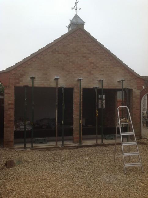 Double garage conversion Morton Lgds Ltd
