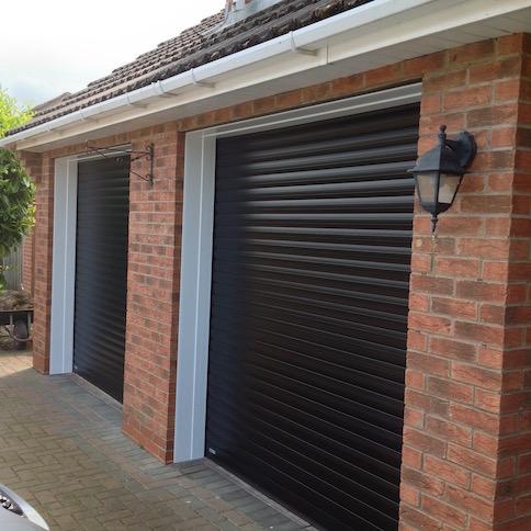 SWS Excel Roller shutters in Black by LGDS LTD