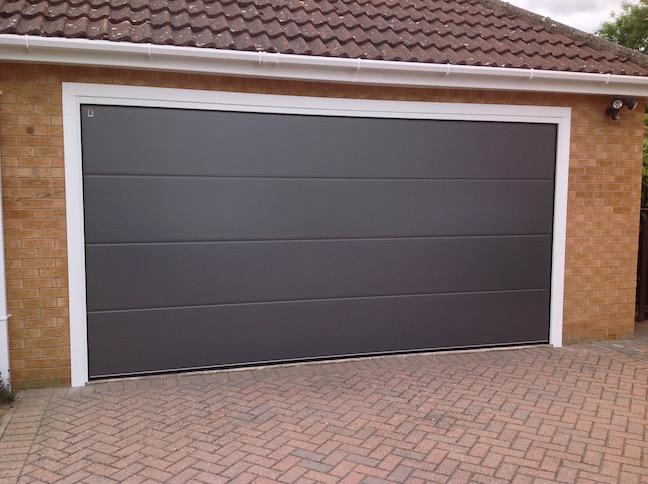 Carteck Sectional door in Metallic Grey by LGDS Ltd