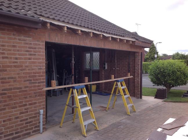 New lintel & brickwork installed