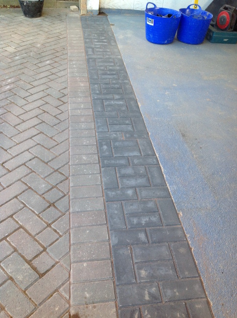 Block paving layed