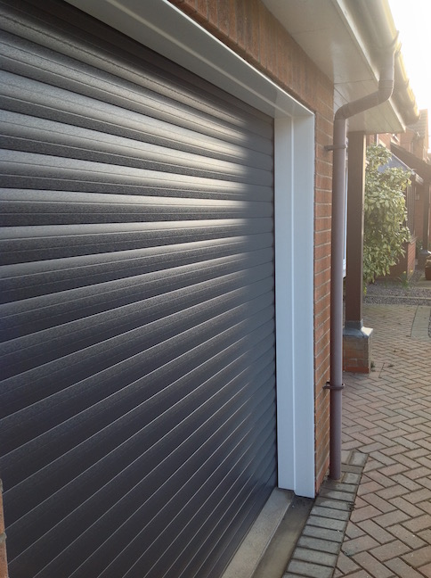 Securoglide Roller shutter in Anthracite By LGDS Ltd