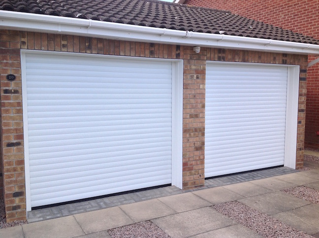 2 Trojon Roller doors in White
