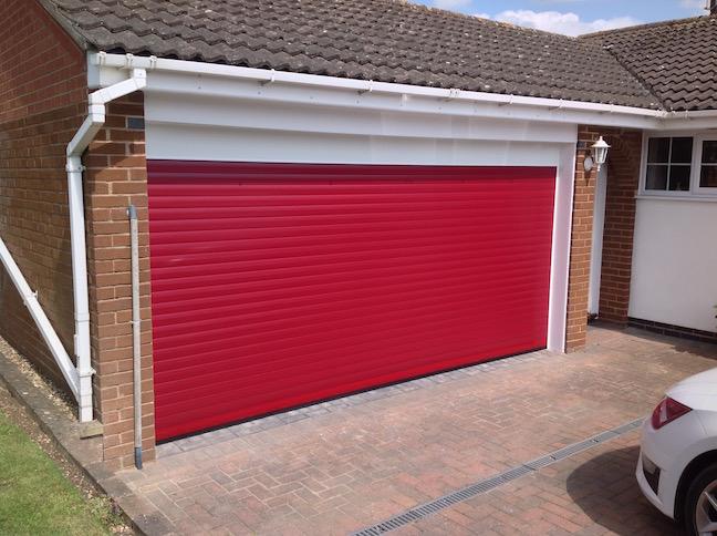 Trojon Double Roller door in Red