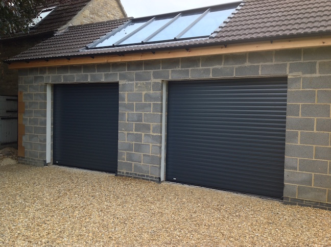 2 Trojon Roller doors in Anthracite
