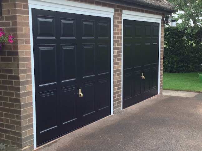 Hormann Georgian doors including Brass Handles