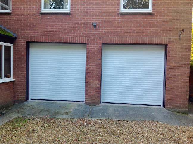 2 Trojon Roller doors in Cream