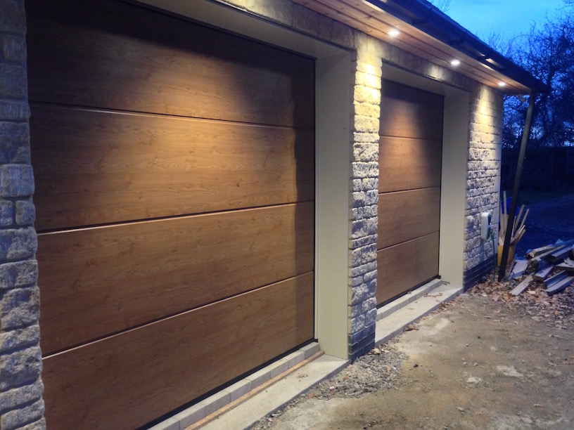 Hormann Winchester Oak Sectional doors by Lincs Garage Door Services