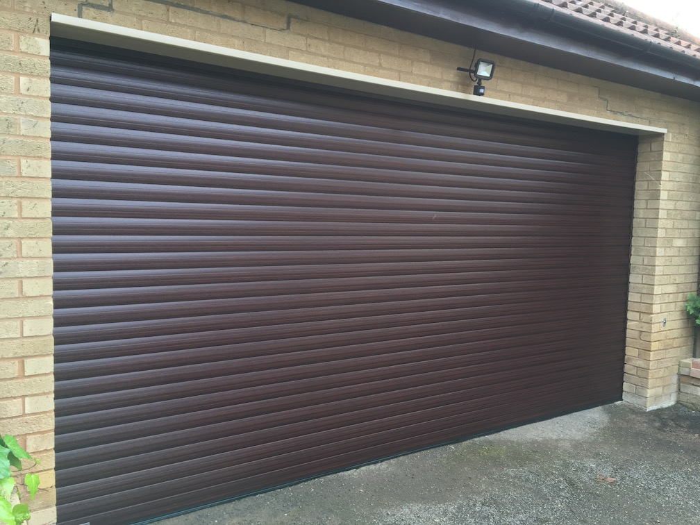 Securoglide Excel double door in Mahogany