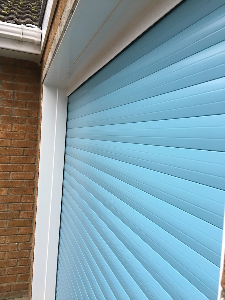 Securoglide Classic door in Duck egg blue