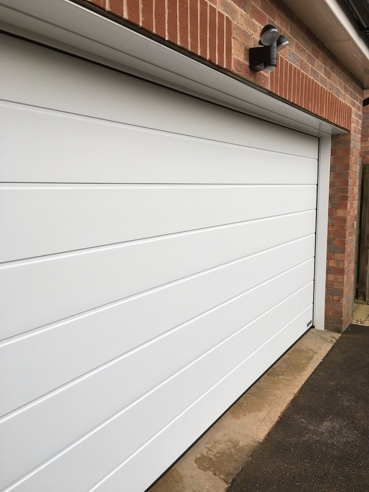New Hormann sectional door installed
