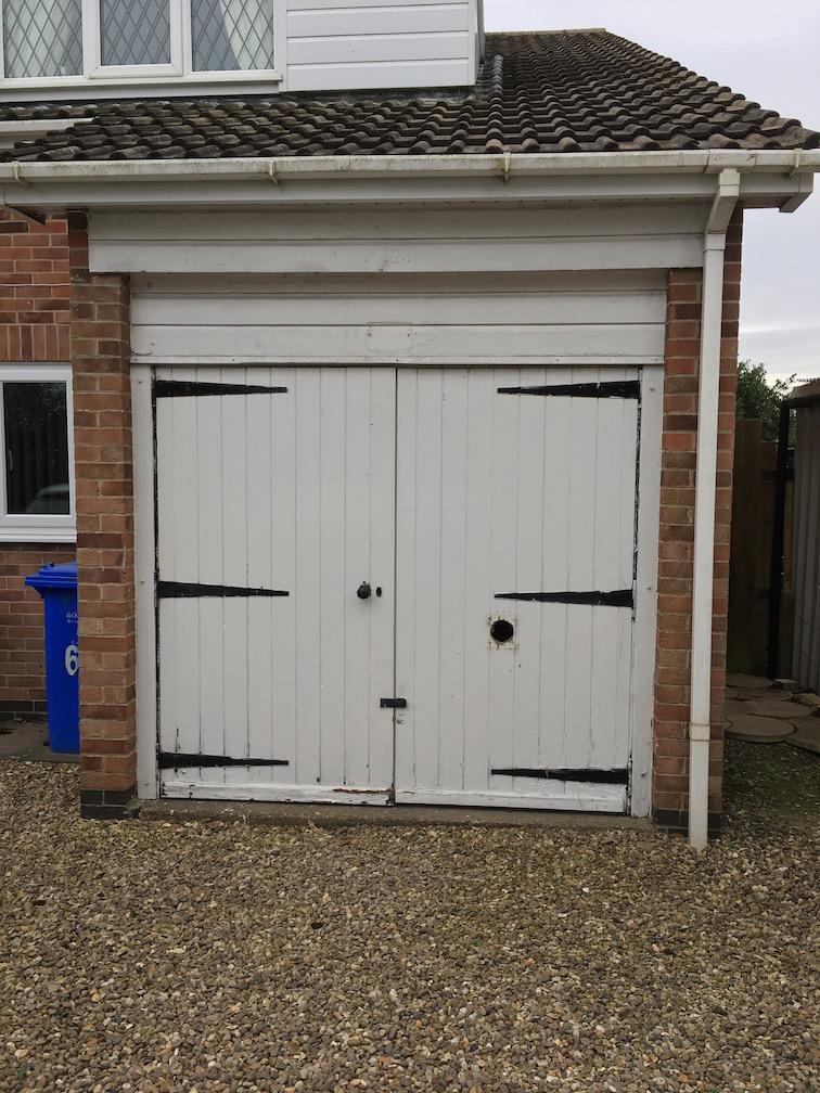 Timber door before update