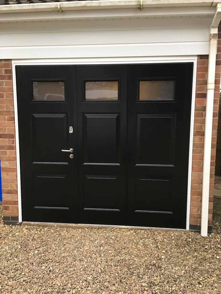 BGID York design Door in Black with windows