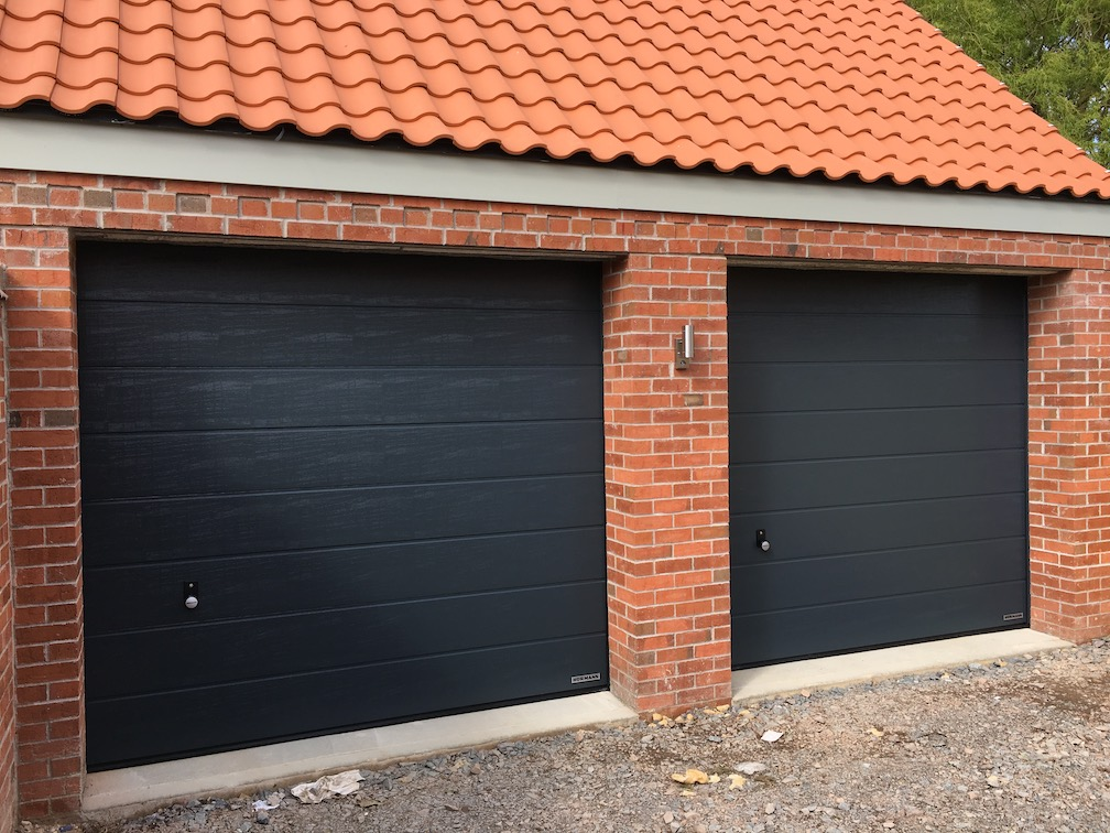 Hörmann Sectional Door in Anthracite Woodgrain finish