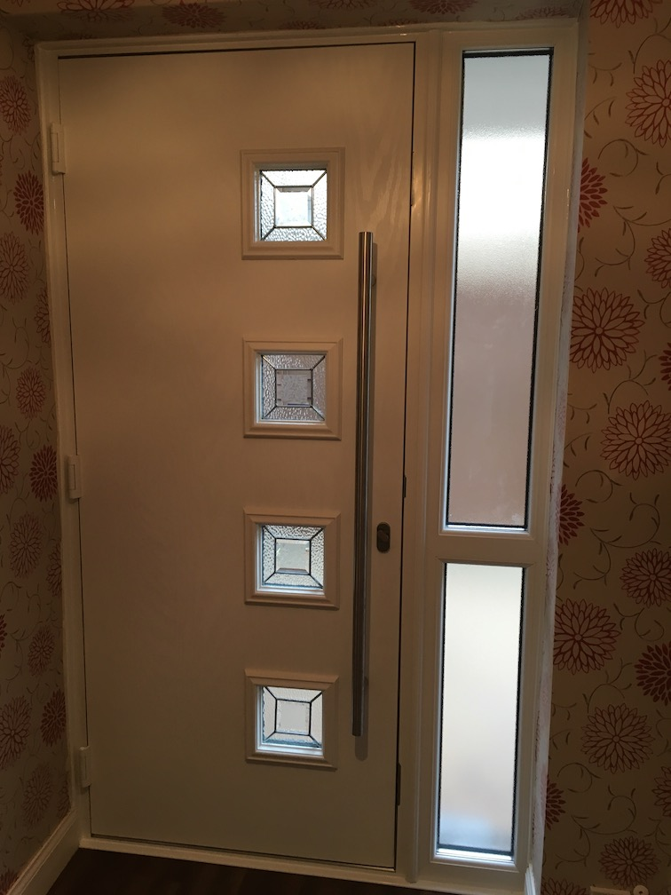 Hörmann composite entrance door including side element inside view