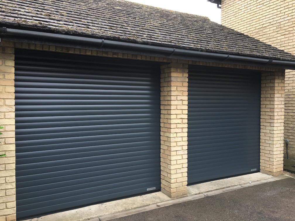 2 Hörmann RollMatic doors installed in Anthracite