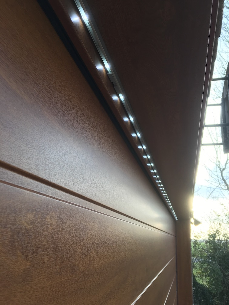 Hörmann Sectional doors S-ribbed design with Led lights