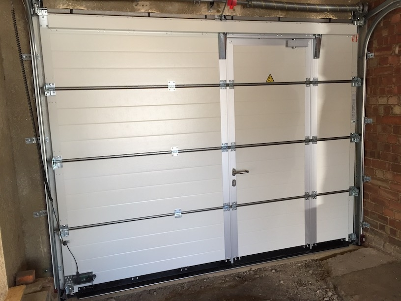 Hörmann sectional door including wicket door internal view