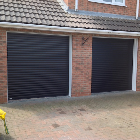 SWS Excel Roller shutters in Black by LGDS LTD