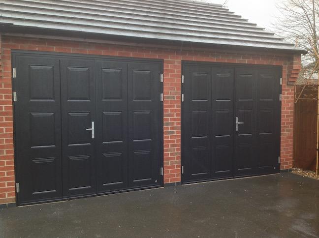 Ryterna doors in black with Georgian squares