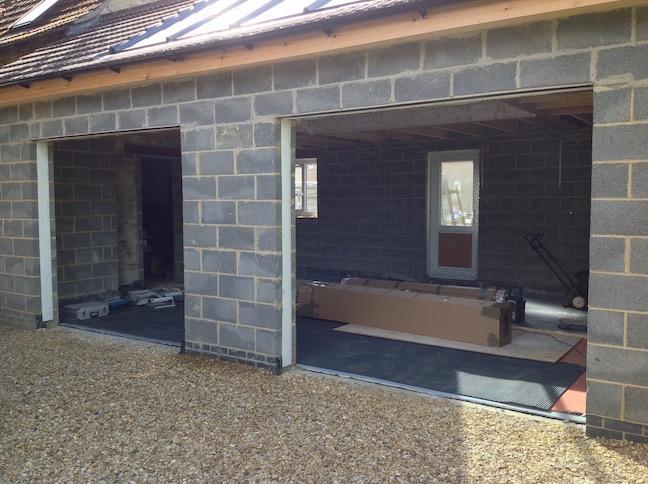 New build before door installation
