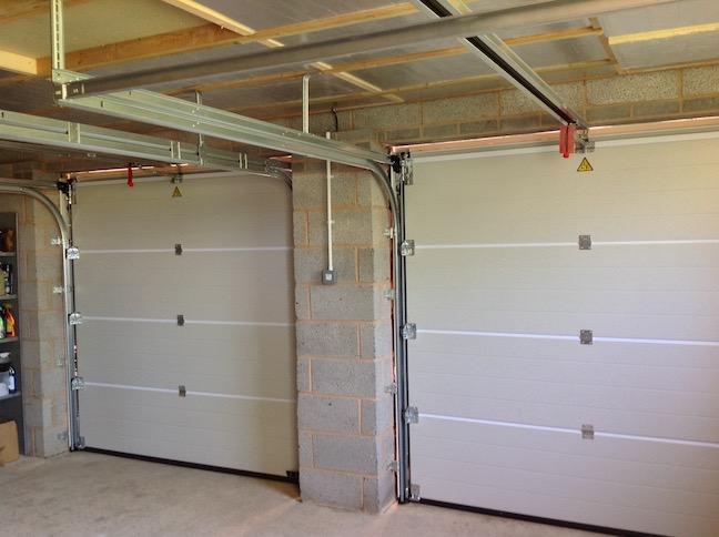 An internal view of Hormann sectional doors