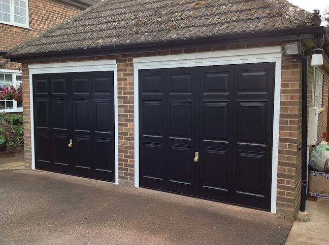 Hormann Georgian doors including Brass Handles