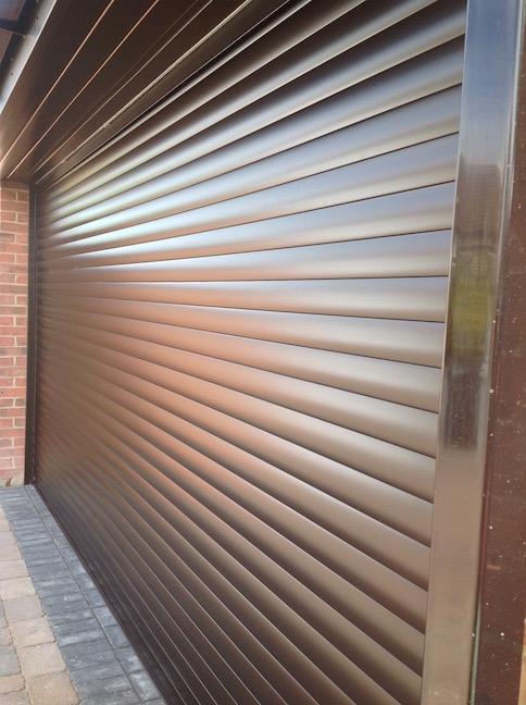Hormann RollMatic door installed side view