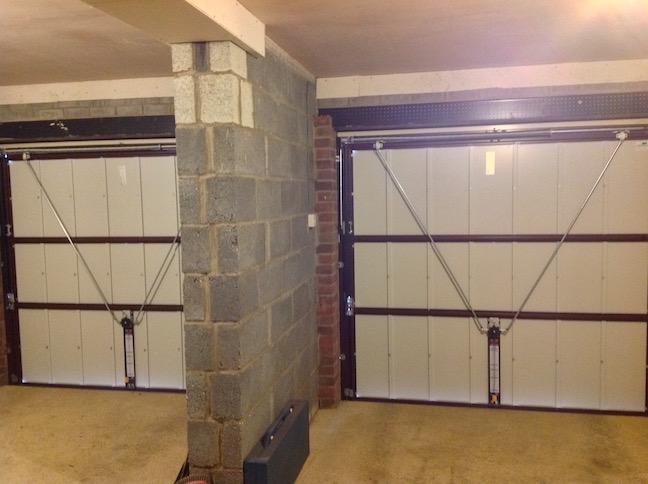 2 Hörmann Decograin doors in Rosewood inside view