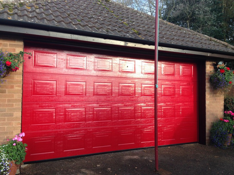 Hormann Sectional door in Red