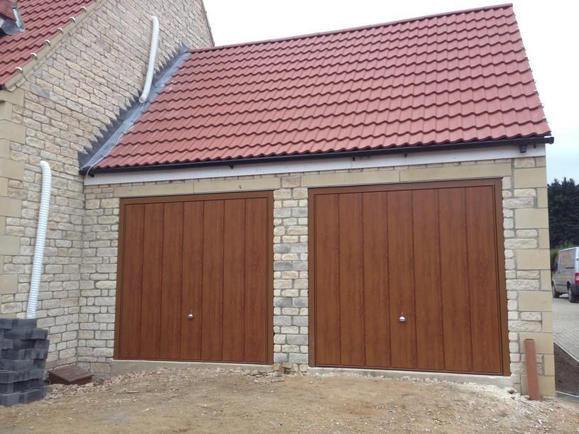 Hormann Decograin Golden Oak doors by lincs garage door services ltd