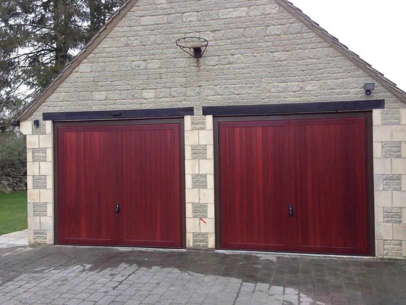2 Hormann Caxton Doors in Mahogany by Lincs Garage Door Services Ltd
