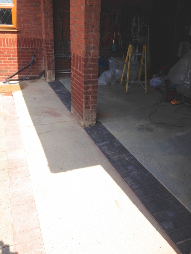 Block Paving at the entrance