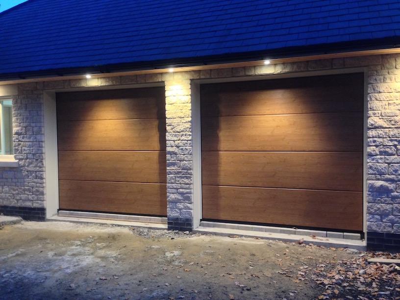 Hormann Winchester Oak Sectional doors by Lincs Garage Door Services