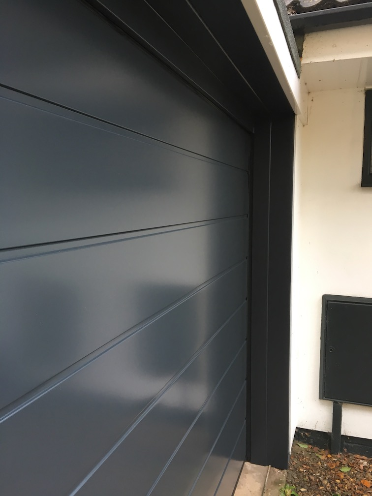 Hörmann Sectional Door in Anthracite Silkgrain finish