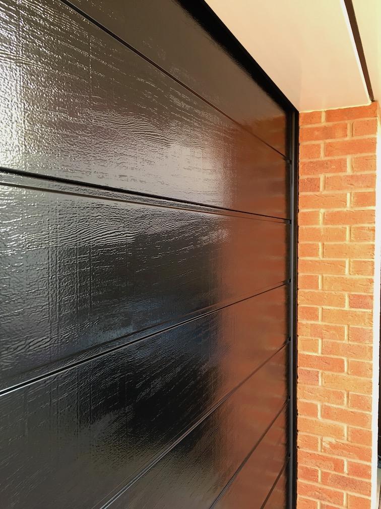 Hörmann Sectional Door in Black Woodgrain finish