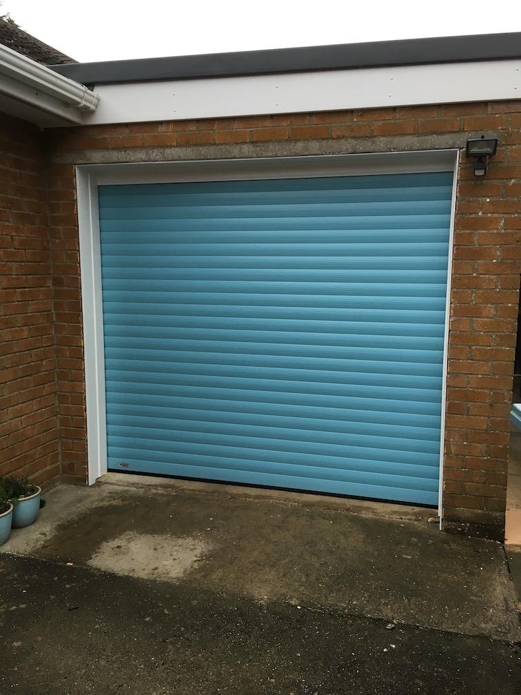 Securoglide Classic door in Duck egg blue