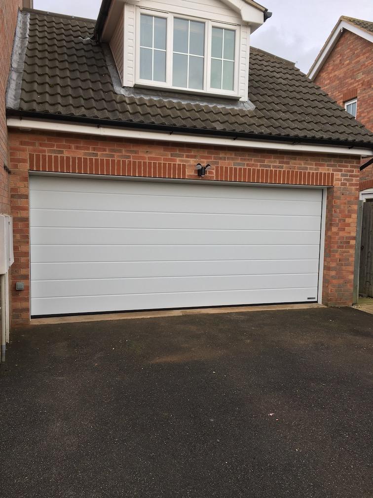 New Hormann sectional door installed