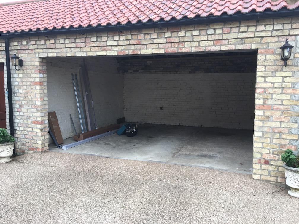 Before new door is installed