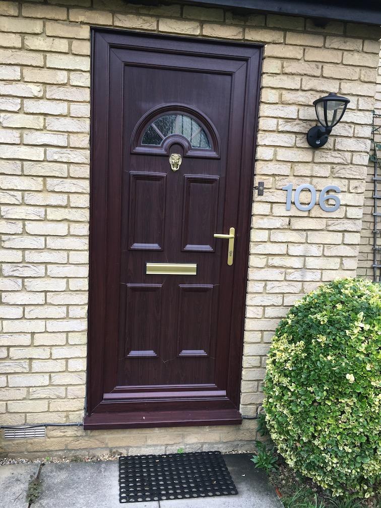 Old Upvc door before update