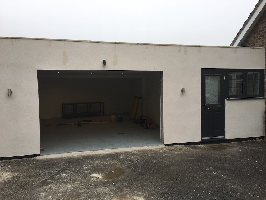 newly built garage before installation