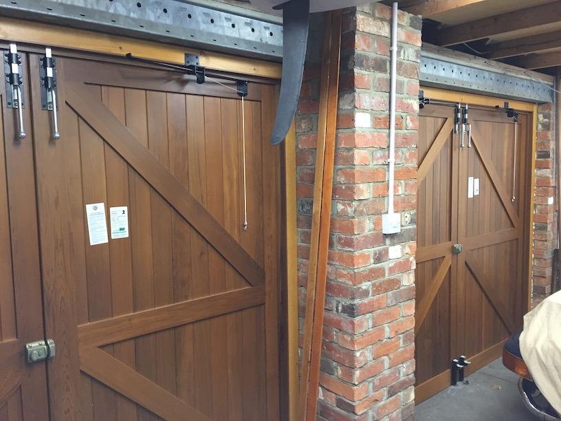 Woodrite, York range, Chalfont design side hinged doors internal view