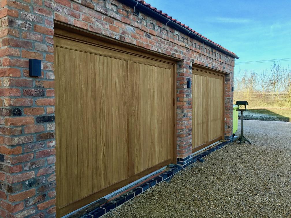 A pair of Woodrite Idigbo doors