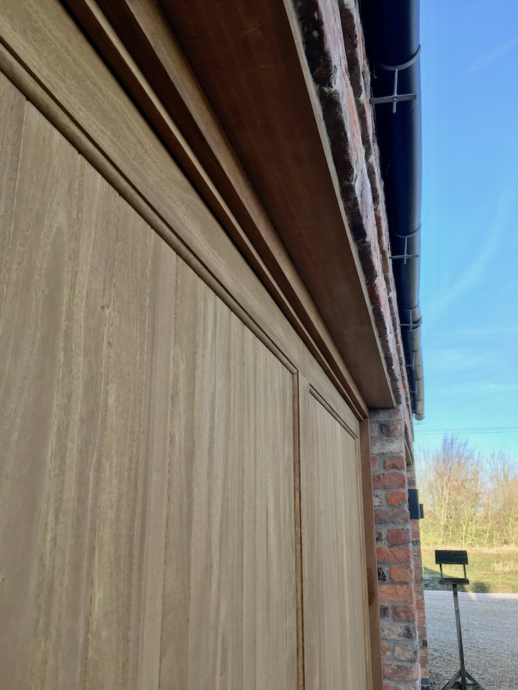 Idigbo timber applied to the lintels to match in